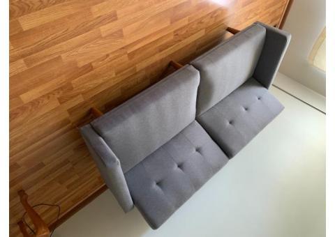 Grey futon - Great condition